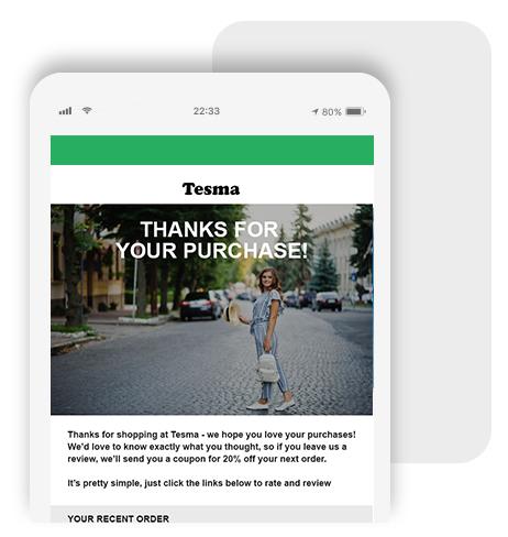 Bayengage Post Purchase Emails