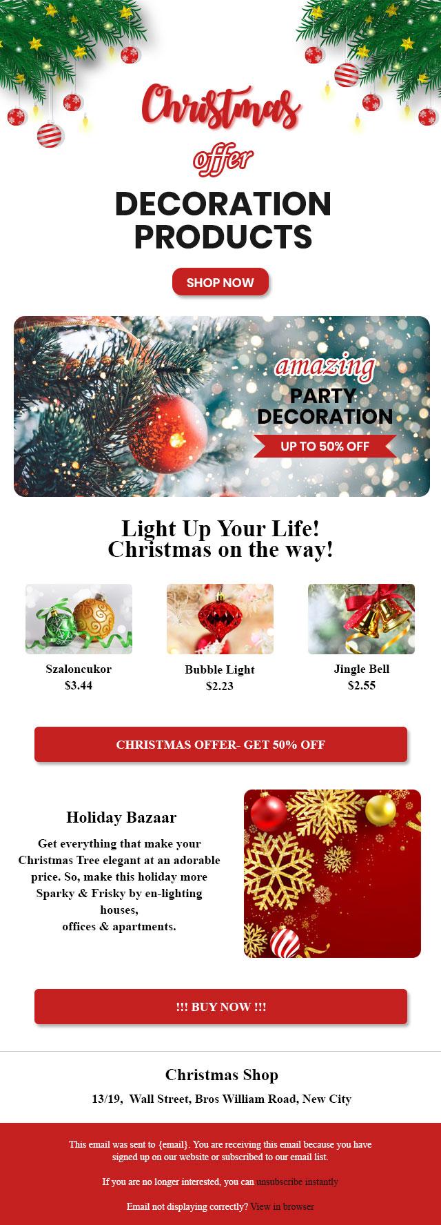 30 Free Christmas Email Templates   BayEngage