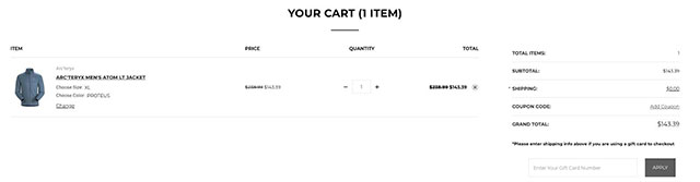 TYLER'S Abandoned Cart email