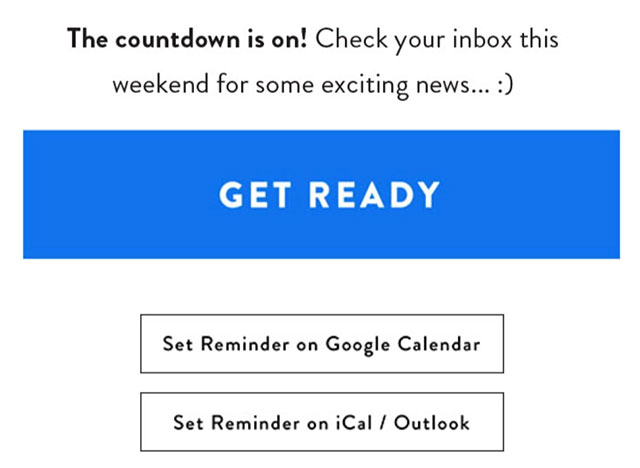 Remainder Email Campaign