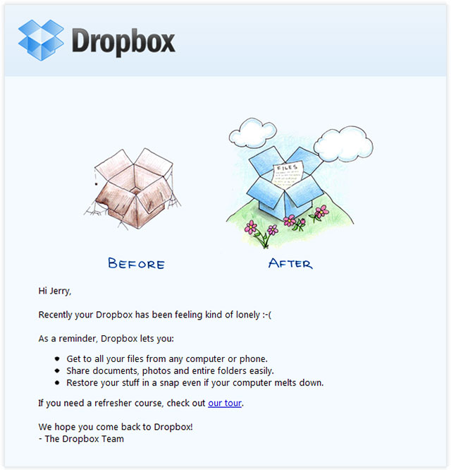 Win Back Email Template Campaign
