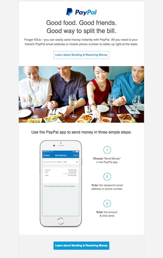 Paypal - email marketing campaign