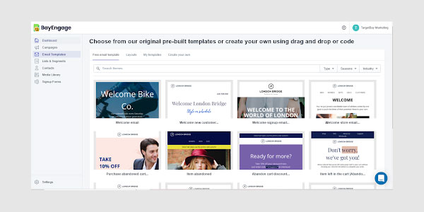 BayEngage's Shopify email templates