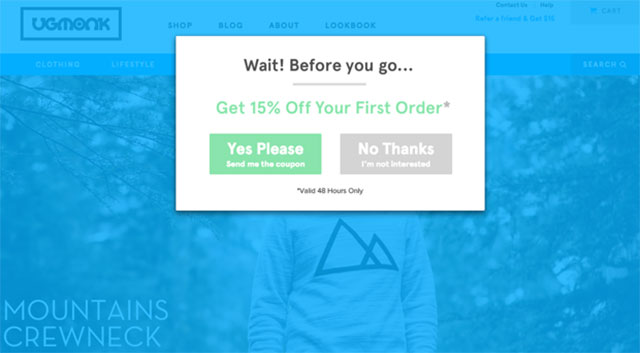 cta for shopify email list