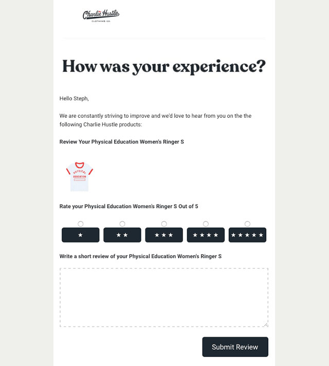 ask feedback for email engagement