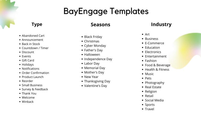 bayengage templates